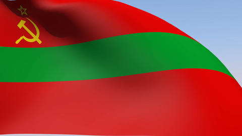 Flag of Transnistria State Animation