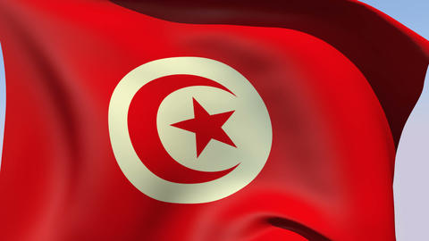Flag of Tunisia Animation