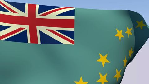 Flag of Tuvalu Stock Video Footage