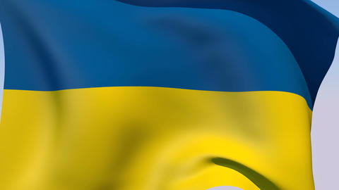 Flag of Ukraine Stock Video Footage
