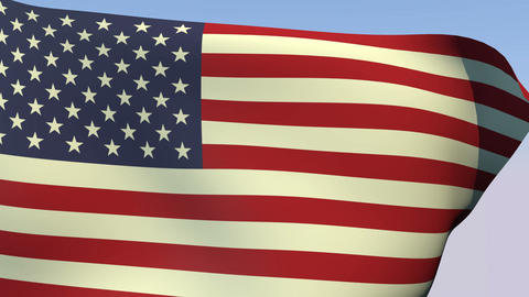 Flag of United States Stock Video Footage