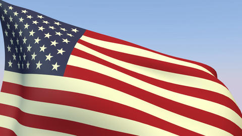 Flag Of United States stock footage