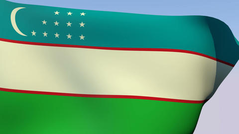 Flag of Uzbekistan Animation