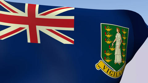 Flag of Virgin Islands British Stock Video Footage