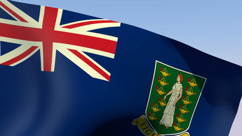 Flag of Virgin Islands British Stock Video Footage