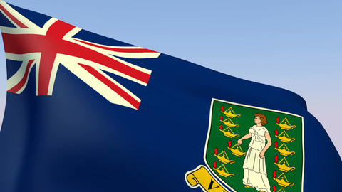 Flag of Virgin Islands British Animation