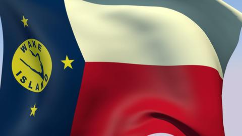 Flag of Wake Island Animation