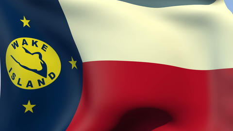 Flag of Wake Island Stock Video Footage