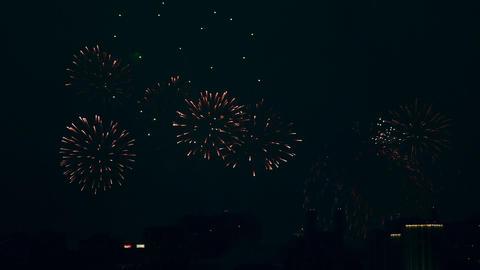 Festive fireworks Stock Video Footage
