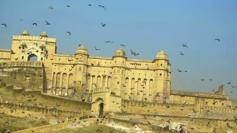 Amber fort Stock Video Footage
