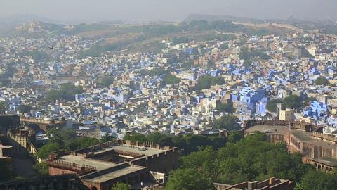 Indian town, Jodhpur Stock Video Footage