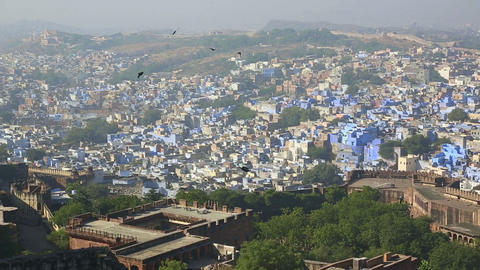 Indian town, Jodhpur Footage