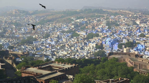 Indian town, Jodhpur Stock Video Footage