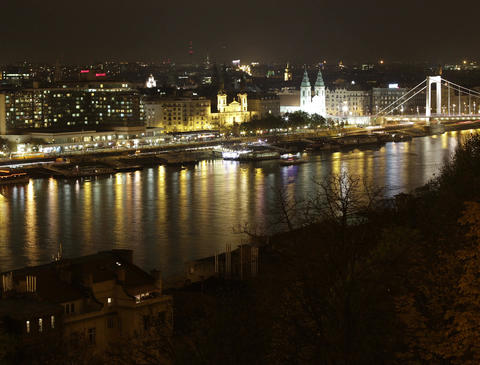 4 K Budapest by Night 02 Stock Video Footage