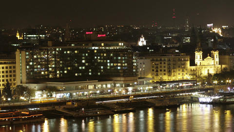 Budapest by Night Stock Video Footage