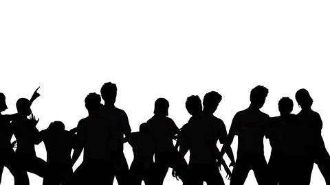 Dancers Silhouette Stock Video Footage