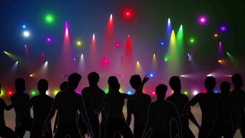 Disco Stage Dancers 1 Stock Video Footage