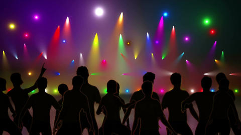 Disco Stage Dancers 1 Animation