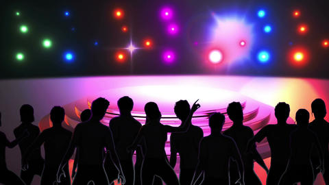Disco Stage Dancers 3 Stock Video Footage