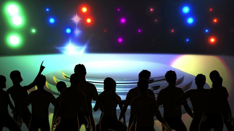 Disco Stage Dancers 3 Animation