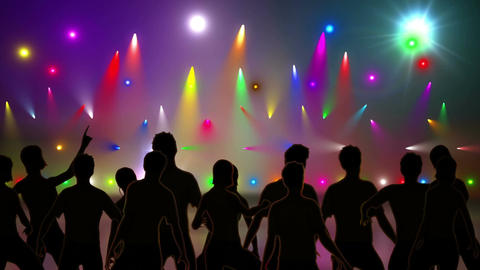 Disco Stage Dancers 5 Animation