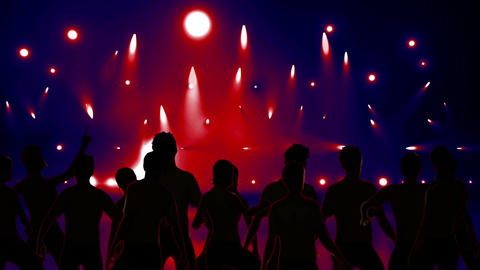 Disco Stage Dancers 9 Animation