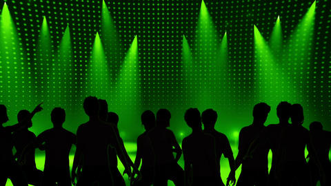Disco Stage Dancers 11 Stock Video Footage