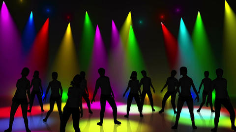 Disco Stage Dancers 13 Stock Video Footage