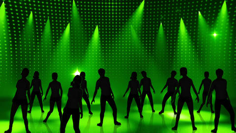 Disco Stage Dancers 15 Stock Video Footage
