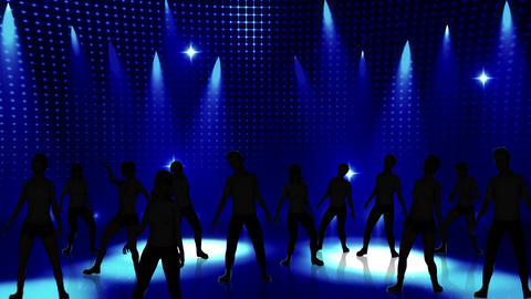 Disco Stage Dancers 17 Stock Video Footage
