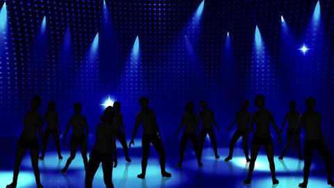 Disco Stage Dancers 17 Animation