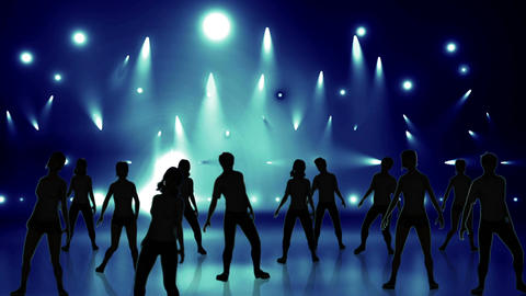 Disco Stage Dancers 19 Animation