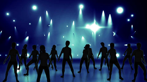 Disco Stage Dancers 19 Stock Video Footage