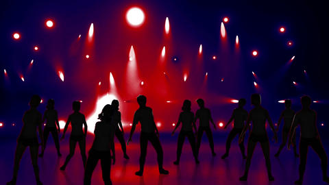 Disco Stage Dancers 21 Stock Video Footage