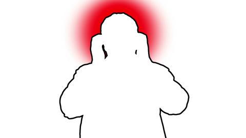 Headache Man Silhouette 1 Stock Video Footage