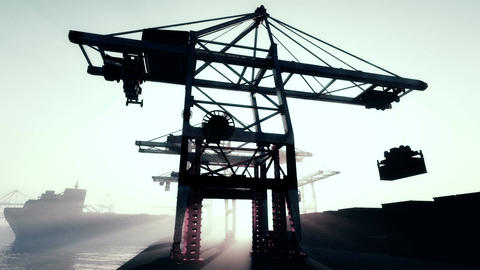 Industrial Port 3 Stock Video Footage