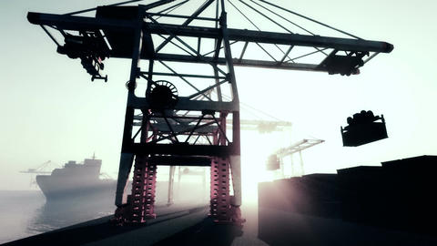 Industrial Port 3 Animation