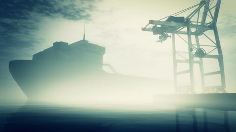 Industrial Port 5 CG動画素材