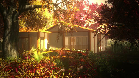 Japanese Garden and House 1 Animation