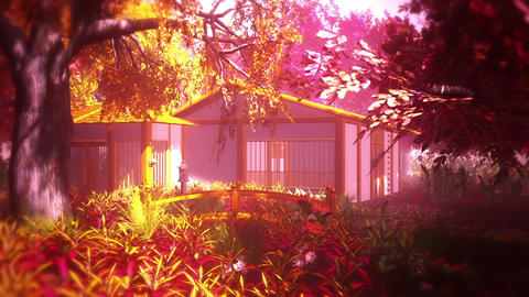 Japanese Garden and House 3 Animation