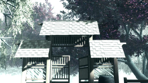 Japanese Garden and House 5 Animation