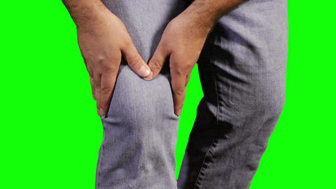 Knee Pain Green Screen 18 Stock Video Footage