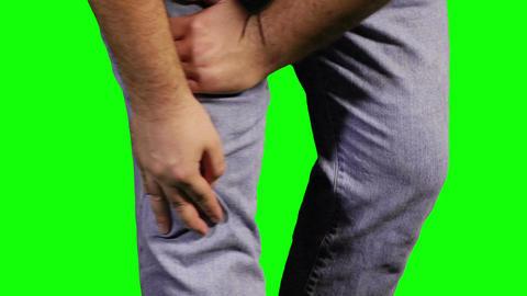 Knee Pain Green Screen 18 Footage