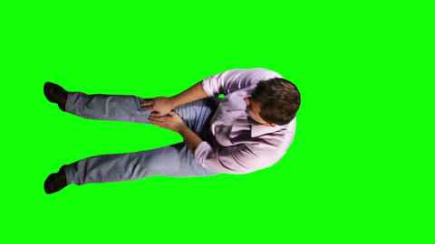Men Knee Pain Full Body Greenscreen 6 Stock Video Footage