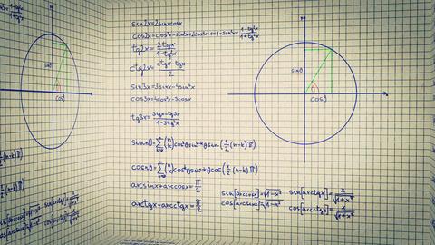 Science Mathematics Box 2 Stock Video Footage