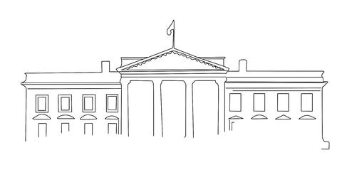 White House 01 handdraw Animation