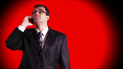 Young Businessman Glasses 1 Stock Video Footage