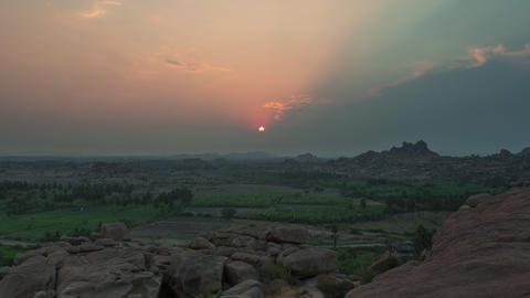 Sunset in Hampi 4 Footage