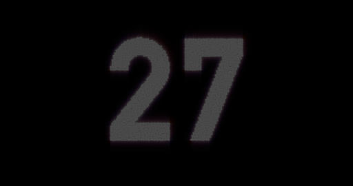 Glowing Timer Countdown With Blinking Digits From 27 to 0 Live Action