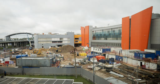 Timelapse of works on construction site Live Action
